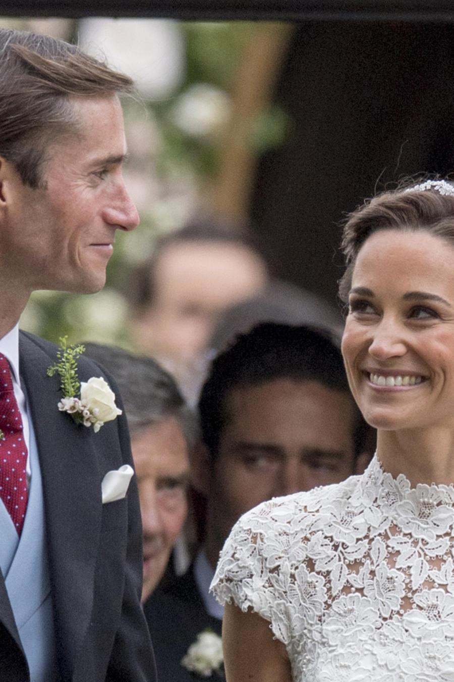 James Matthews y Pippa Middleton en su boda