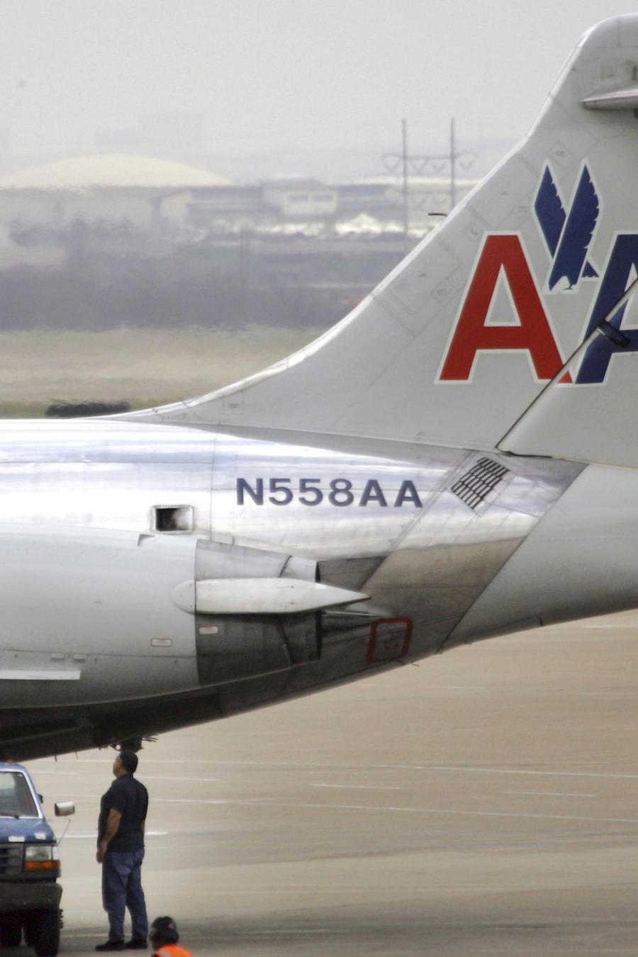 Imagen de archivo de un avión de American Airlines en el aeropuerto de Dallas.