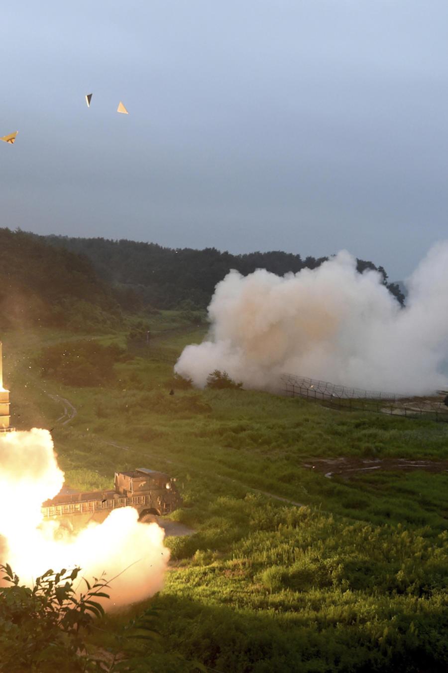 Imagen de archivo de una prueba militar surcoreana para defenderse de Kim Jong Un.
