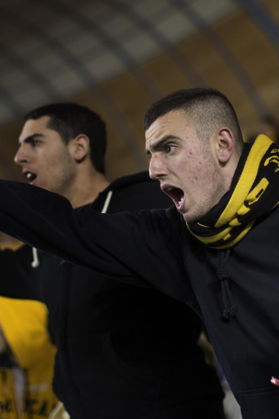 Aficionados del Beitar Jerusalén en el estadio, en Jerusalén, el 10 de febrero de 2013.