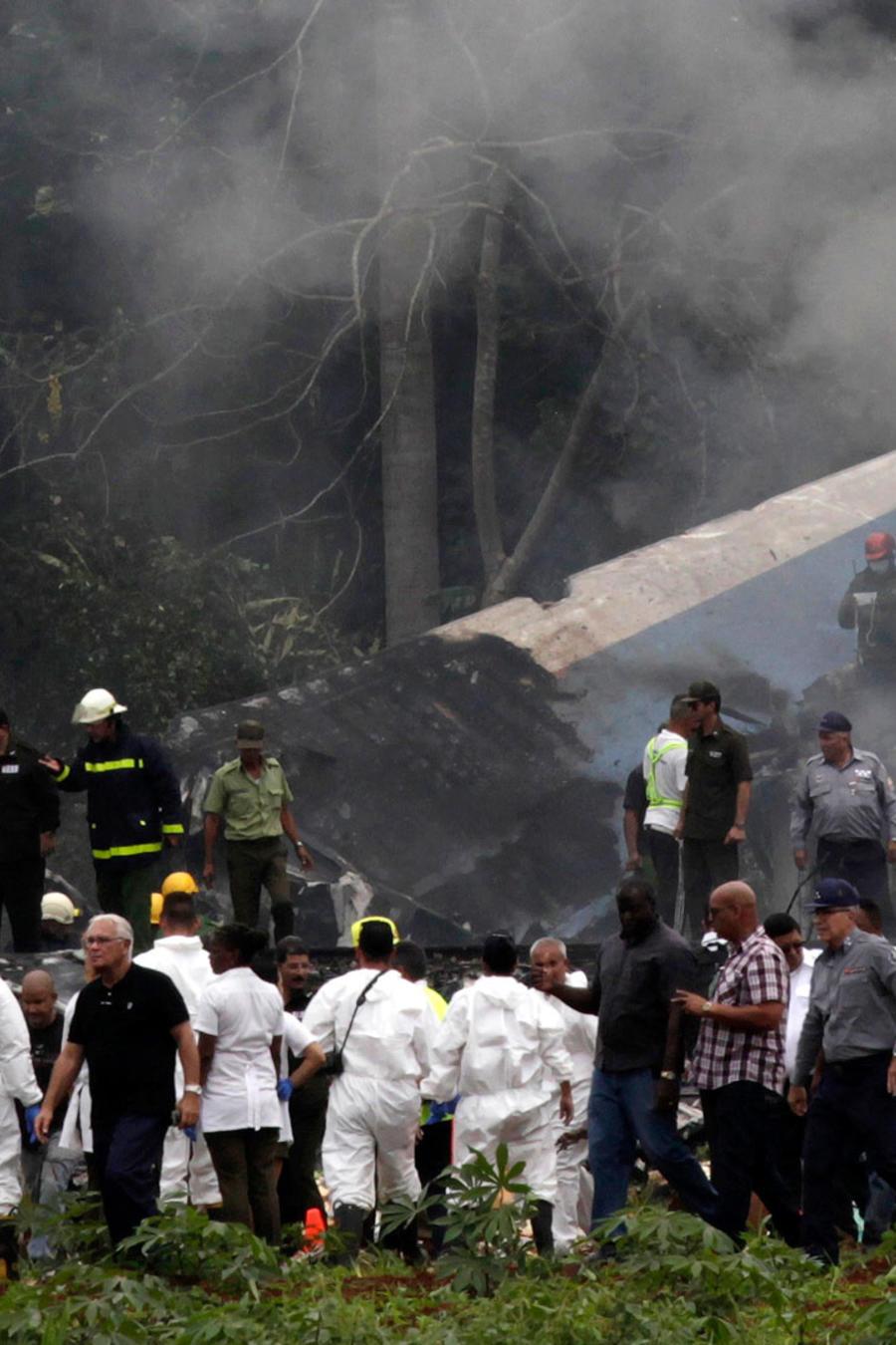 Escenario donde se estrelló el avión de Cubana de Aviación