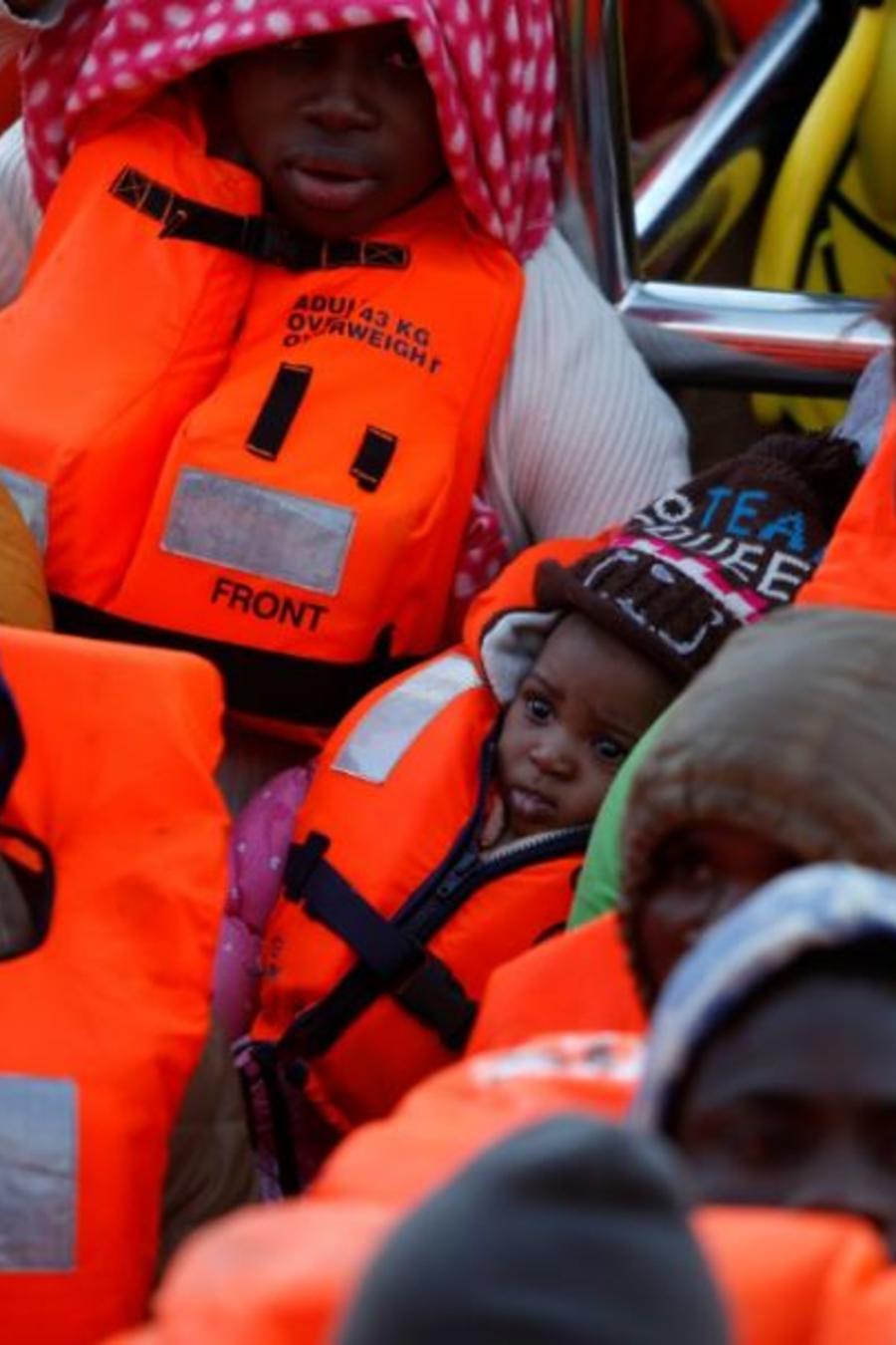 Una operación de rescate del barco Aquarius en el Mediterráneo.