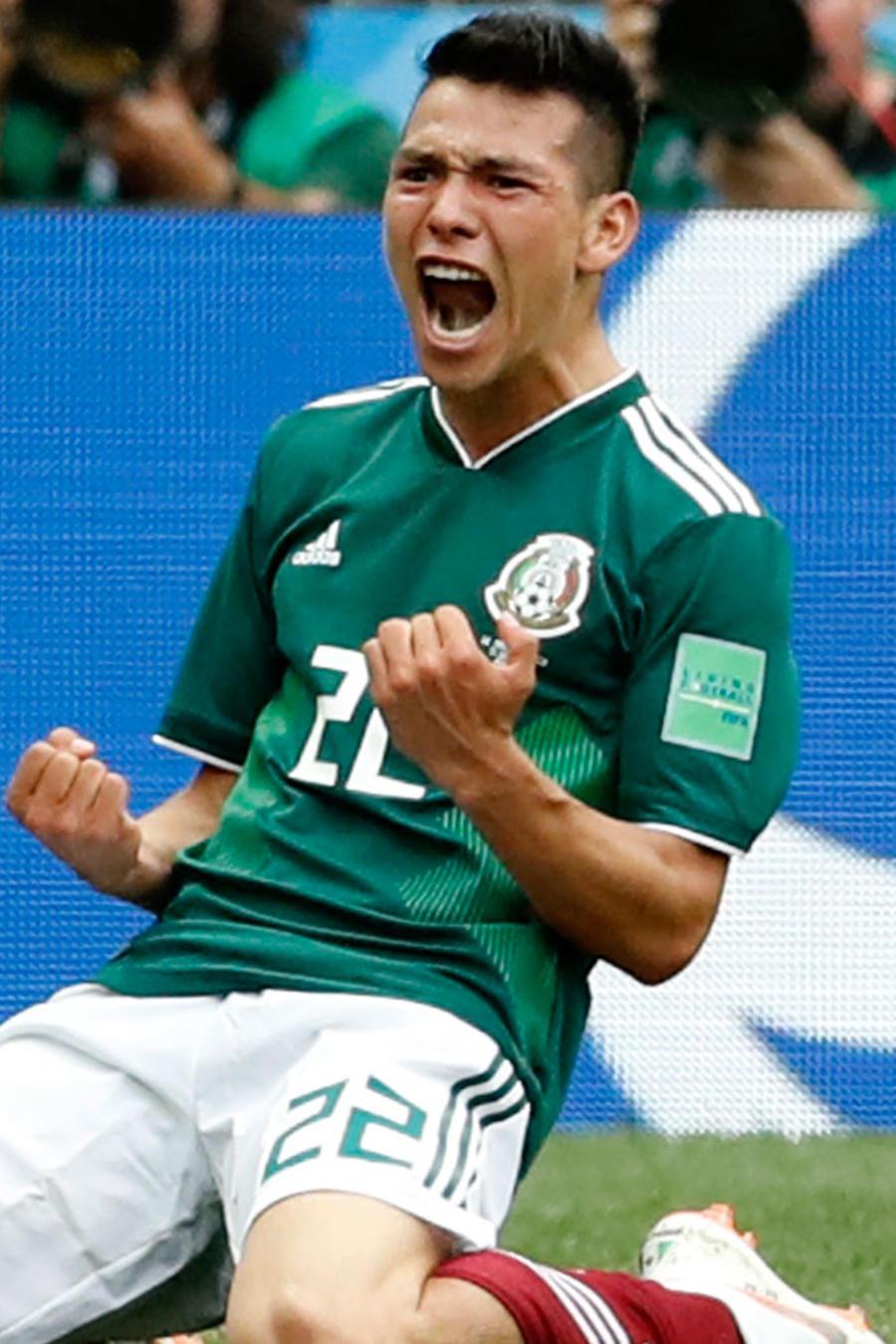 El mexicano Hirving Lozano celebra su gol ante Alemania