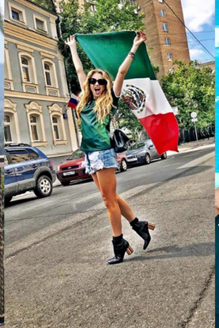 Mexican Celebrities Celebrating Mexico's Win