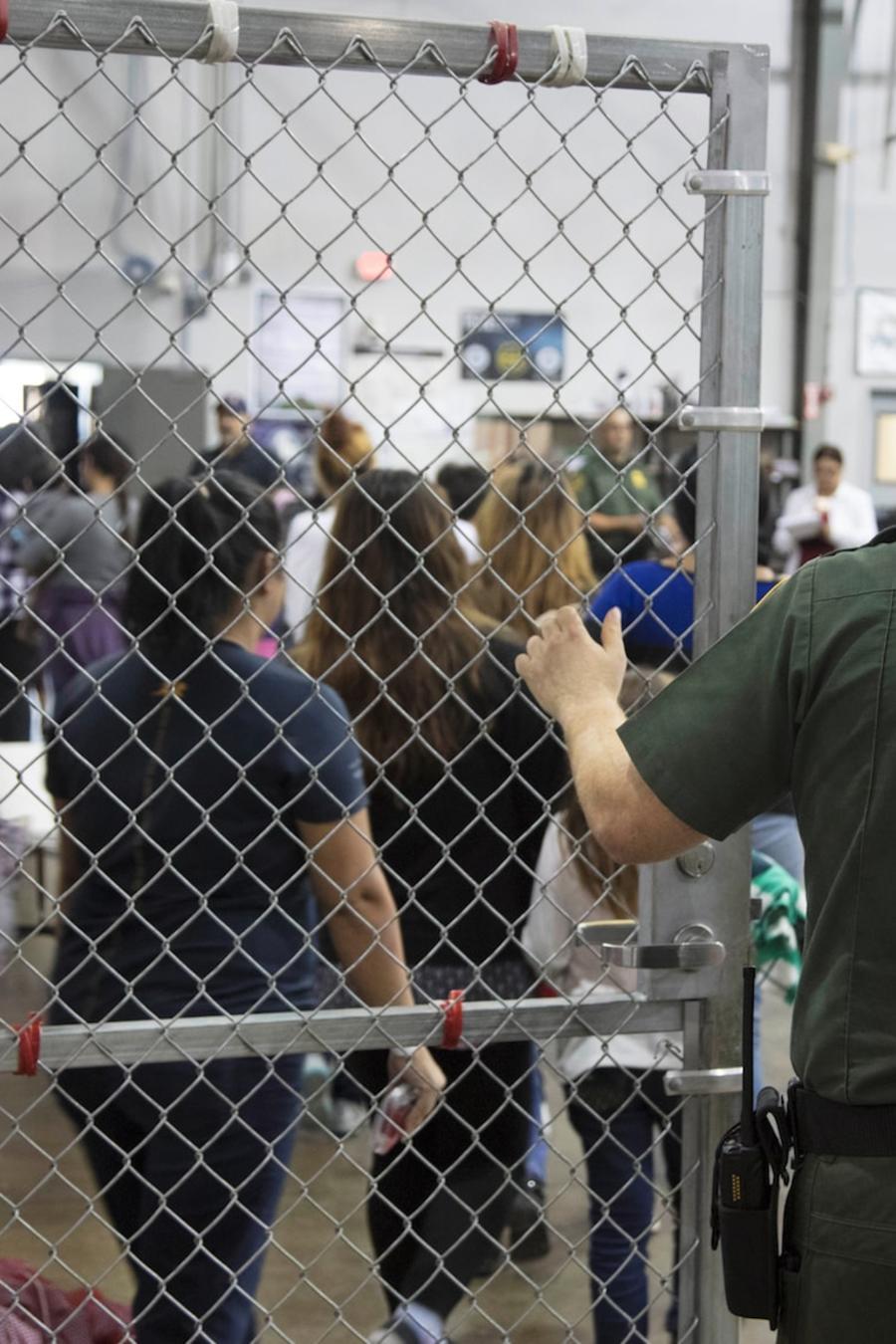 Un centro de detención de la Patrulla Fronteriza en Río Grande (Texas).