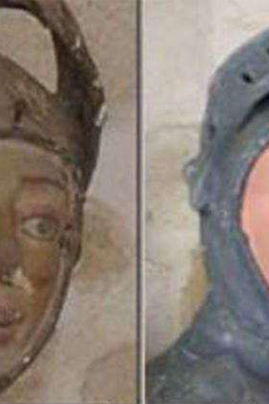Restauración de escultura no queda como se esperaba