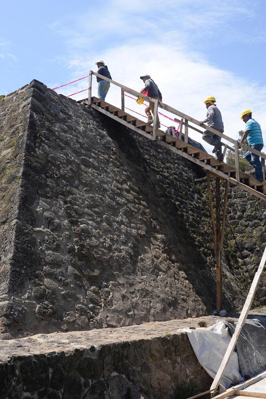 Vista general hoy, miércoles 11 de julio de 2018, de la zona arqueológica de Teopanzolco, en el estado de Morelos (México)