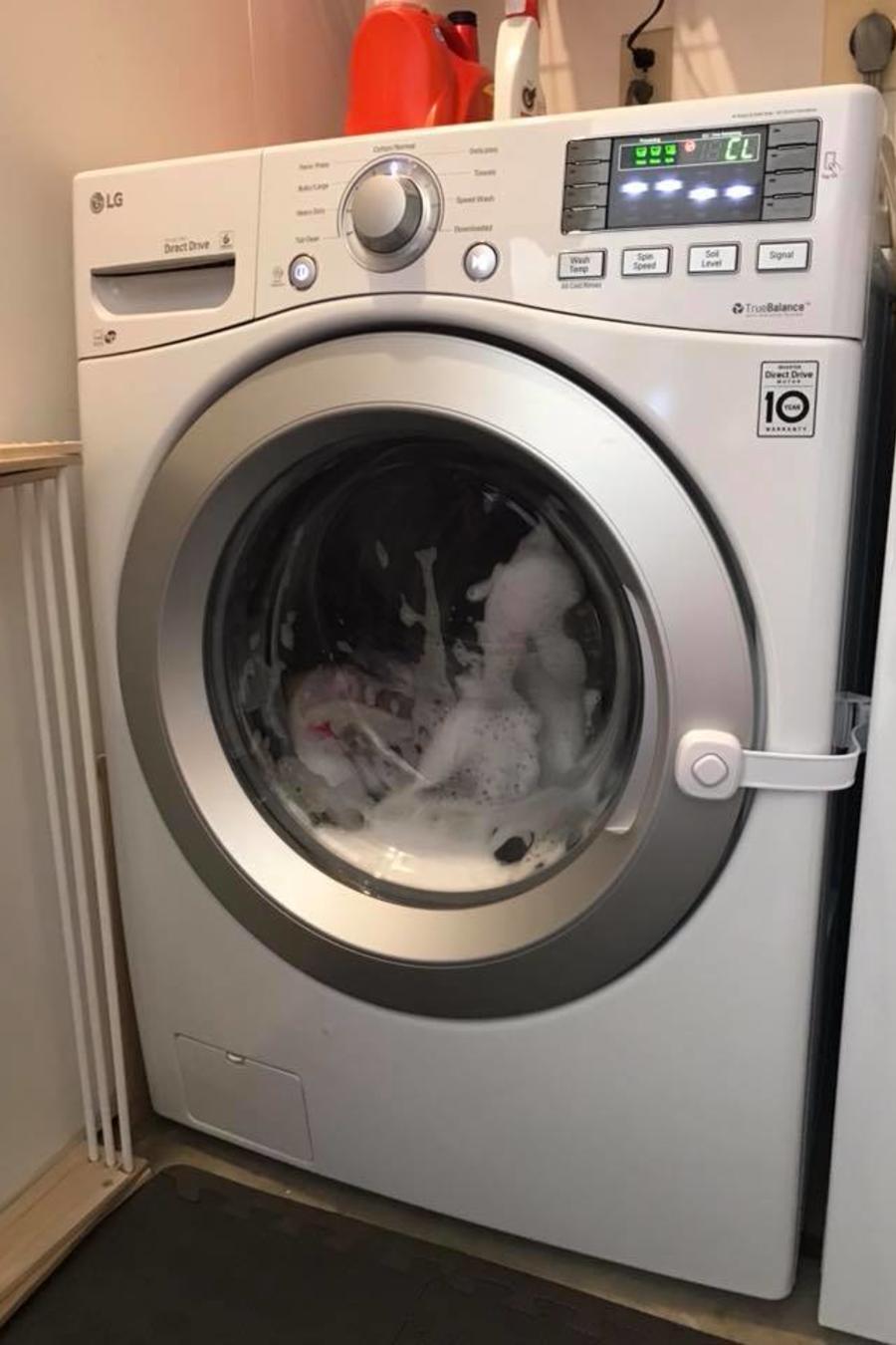 lavadora con seguro para niños