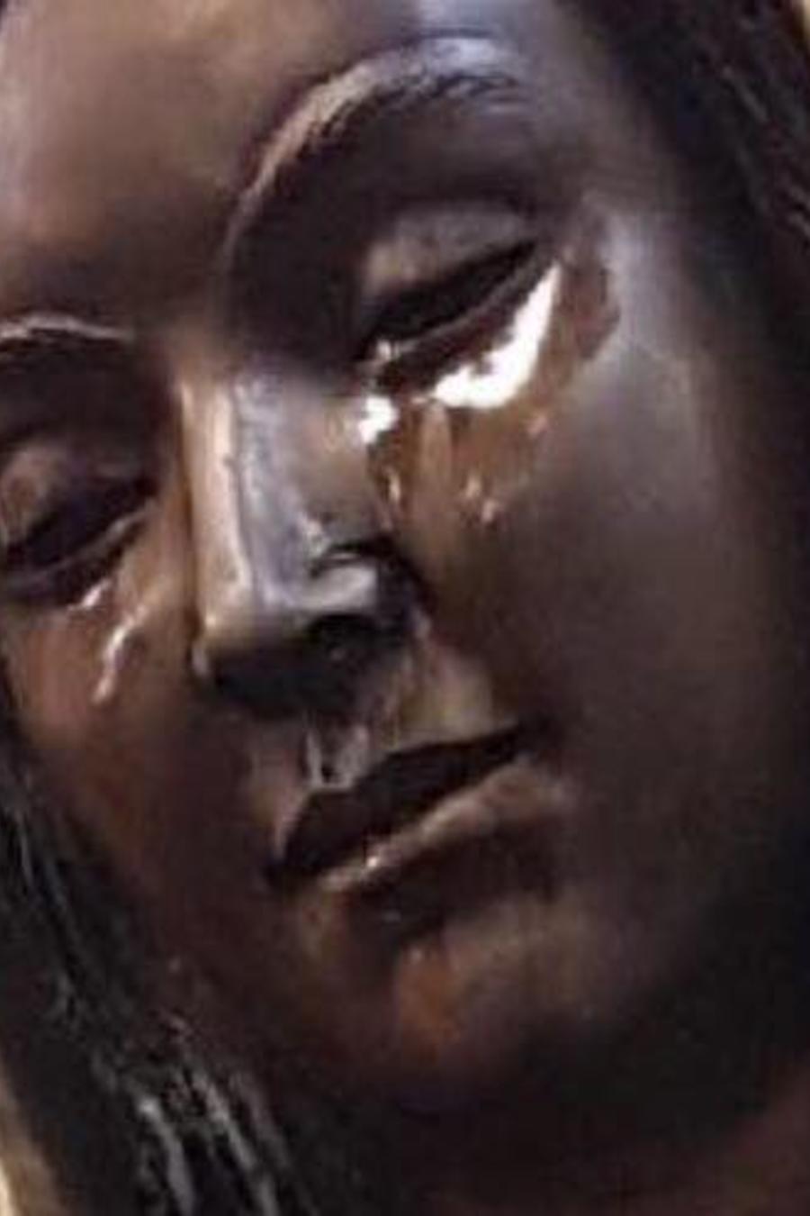 Estatua de Nuestra Señora de Guadalupe en Hobb (Nuevo México).