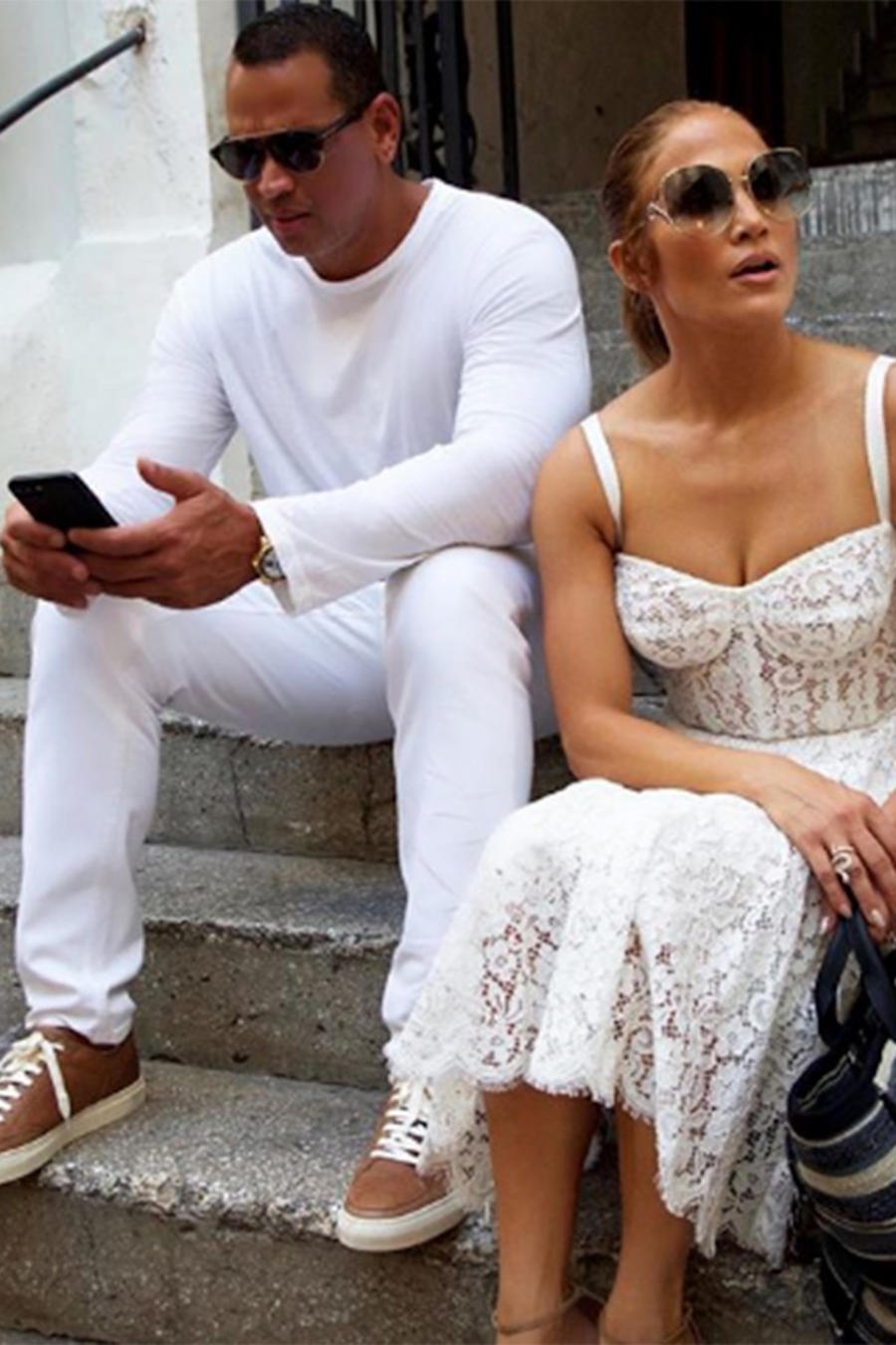 JLo and ARod in Italy
