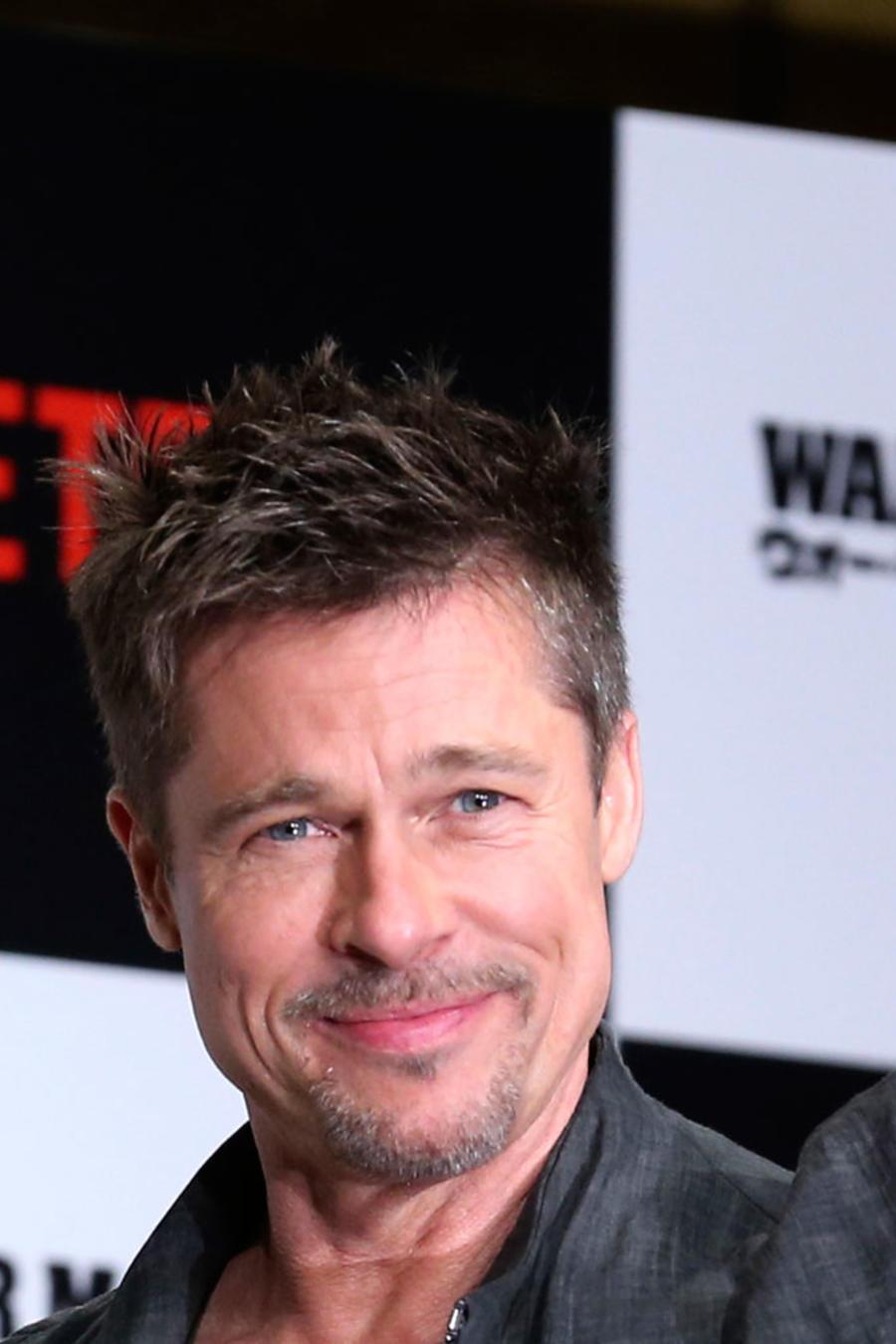 Brad Pitt durante la presentación de la película War Machine en Tokio, el 22 de mayo de 2017