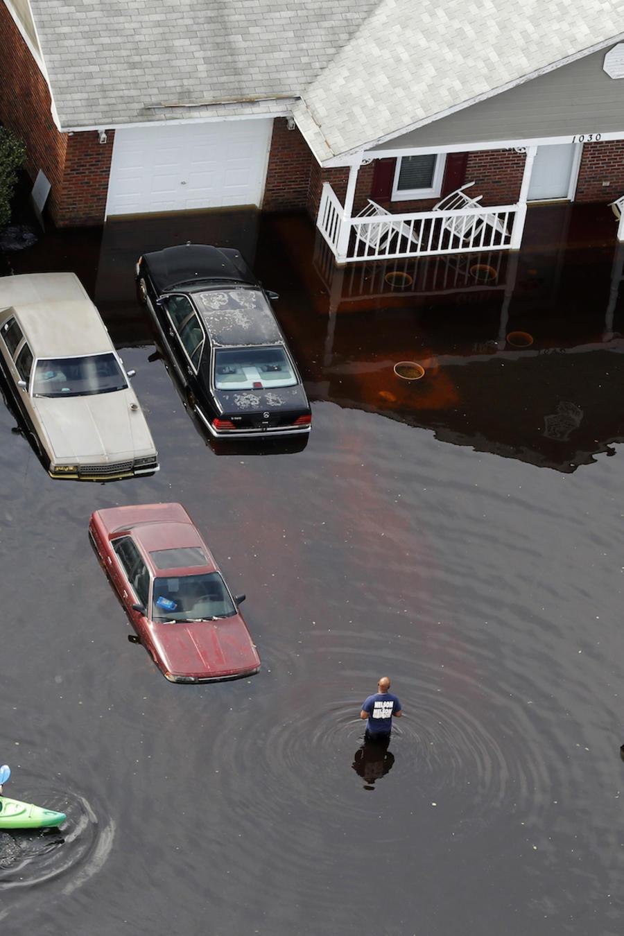 Inundaciones causadas por Florence en Fayetteville (Carolina del Norte), este lunes.