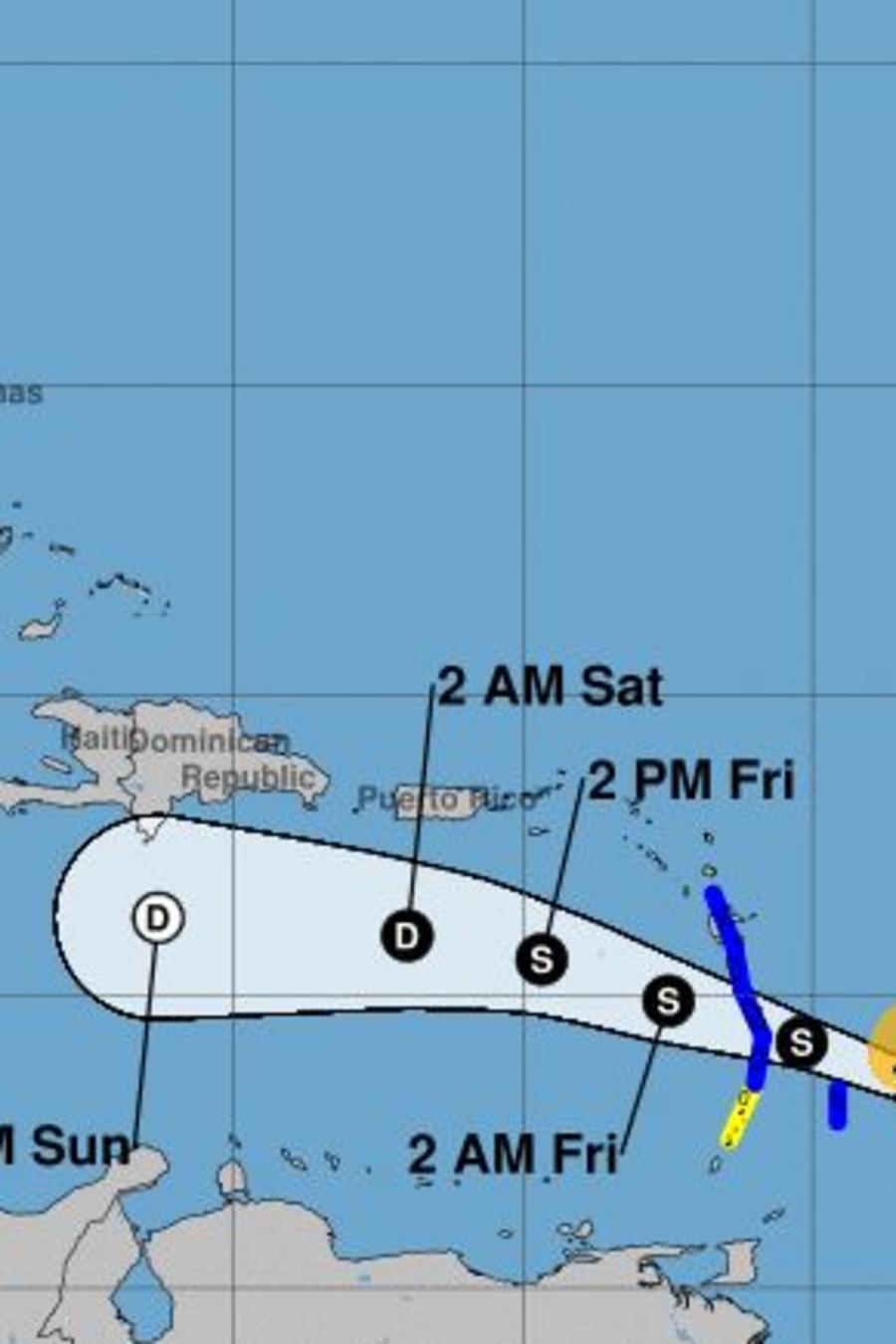La tormenta tropical Kirk se acerca a las Antillas Menores a 16 millas por hora