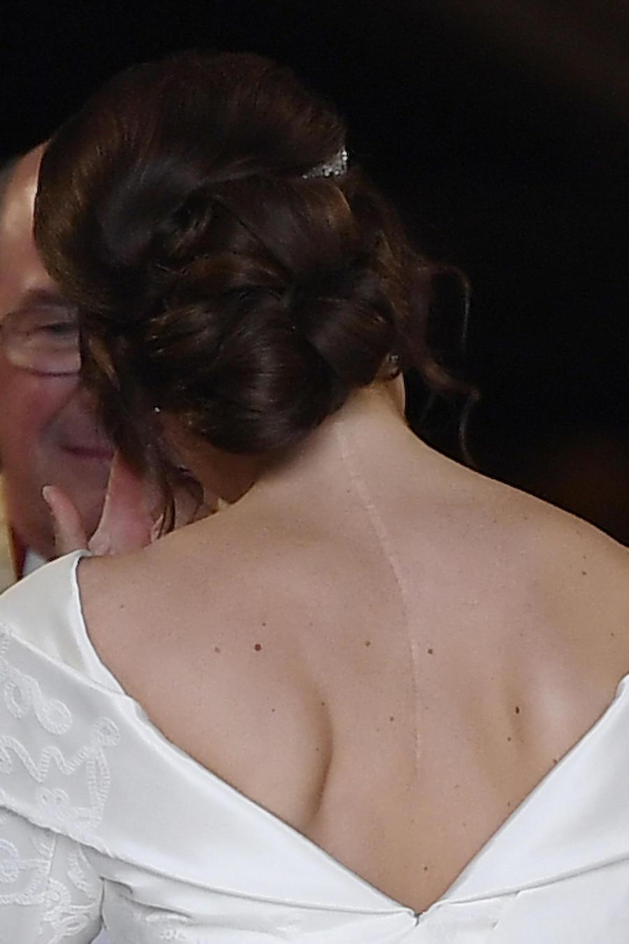 La princesa Eugenie, durante su enlace el 12 de octubre en el castillo de Windsor.