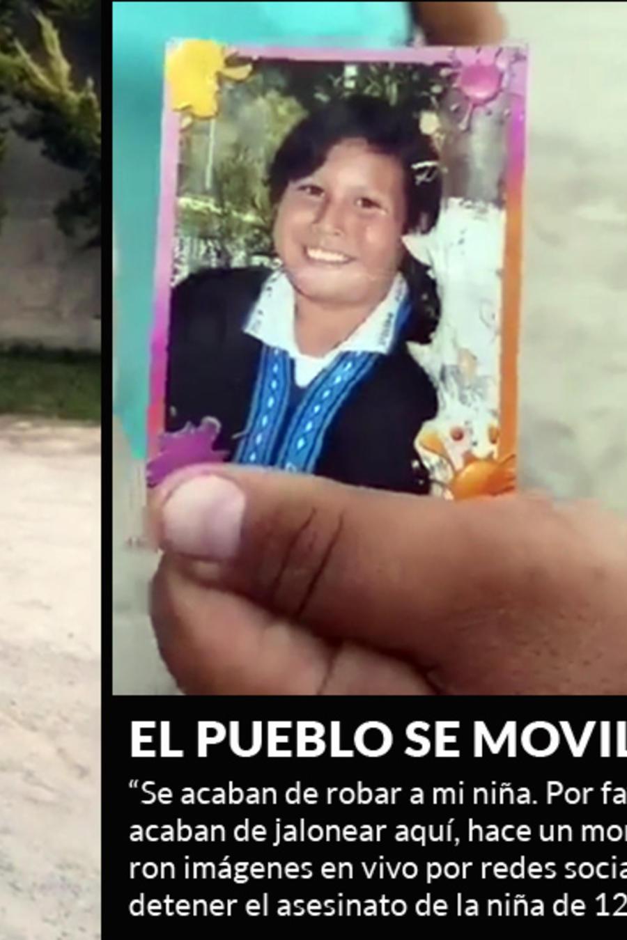 Valeria Rivera Romero, niña de 12 años de edad reportada como desaparecida ayer y hallada muerta
