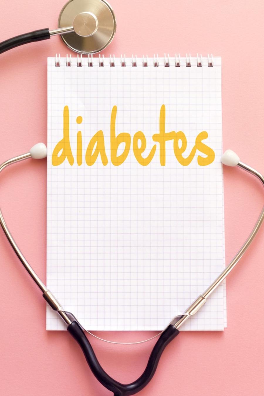 Diabetes y estetoscopio
