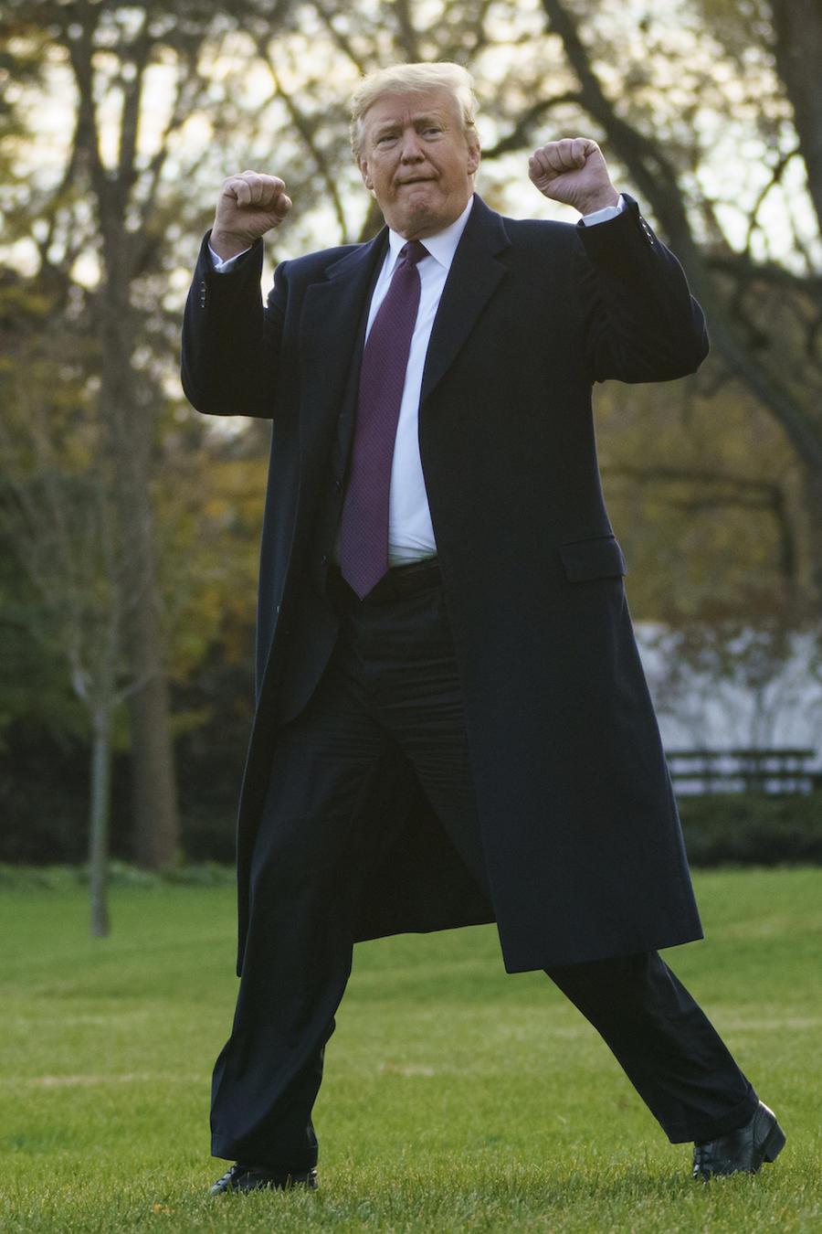 Donald TrumpTrump, este martes en la Casa Blanca antes de volar hacia Florida para sus vacaciones de Acción de Gracias.
