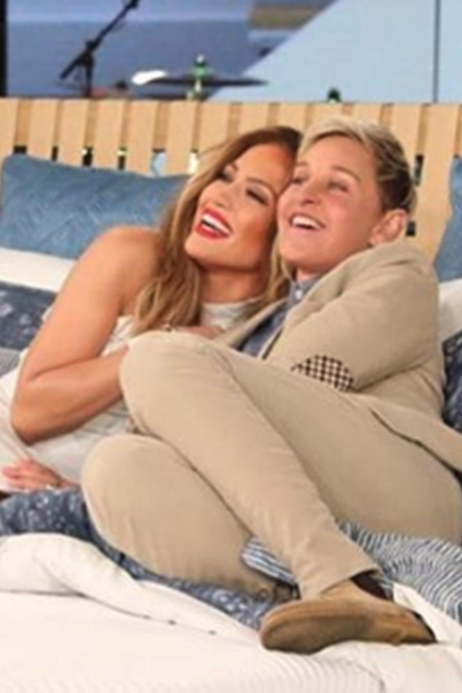 Jennifer Lopez and Ellen DeGeneres