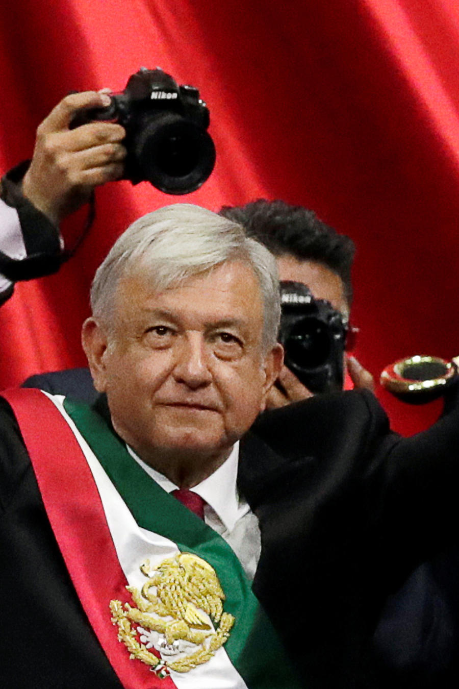Andres Manuel Lopez Obrador takes office as Mexican president