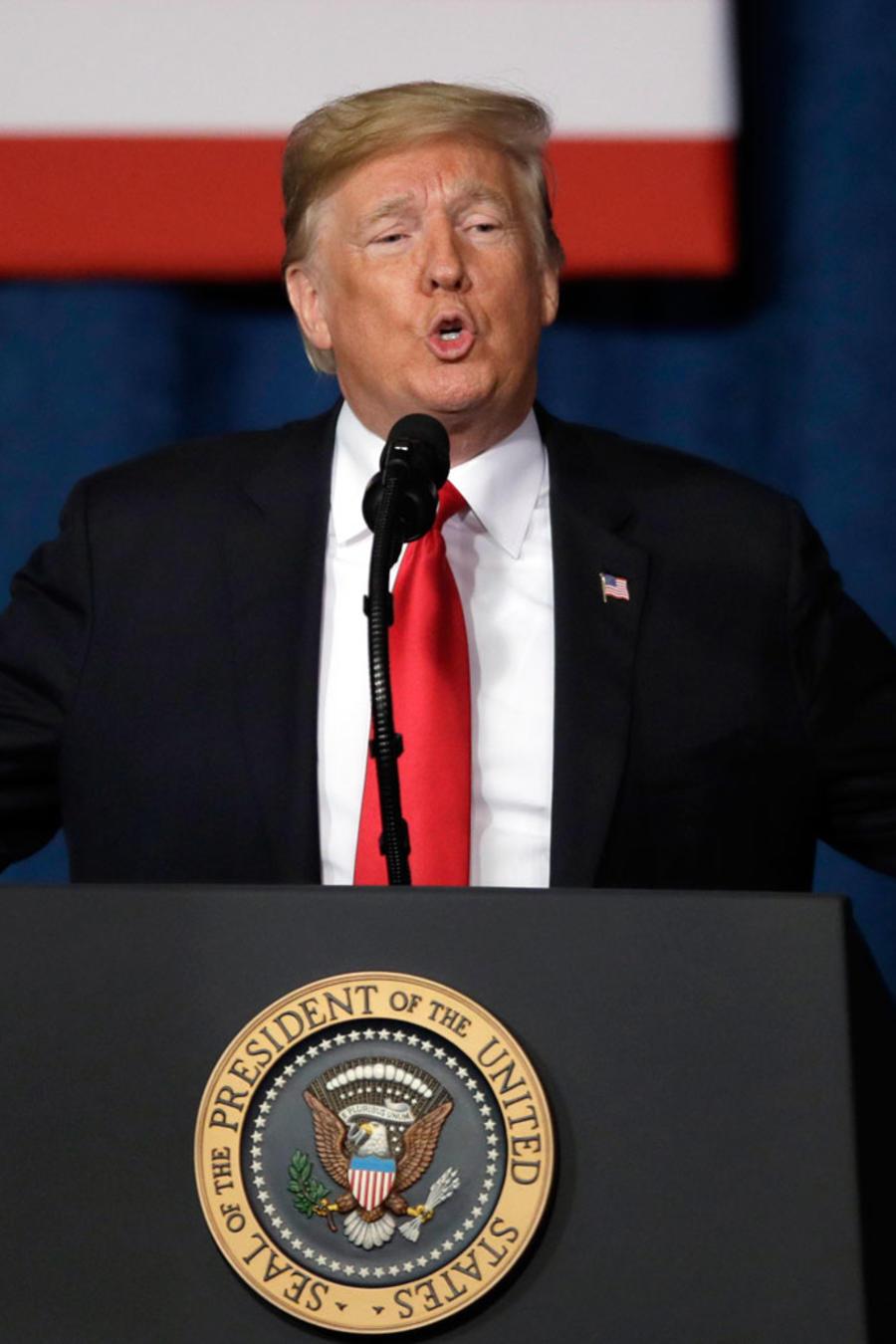 El presidente Trump, durante un acto en Kansas City, Missouri/AP