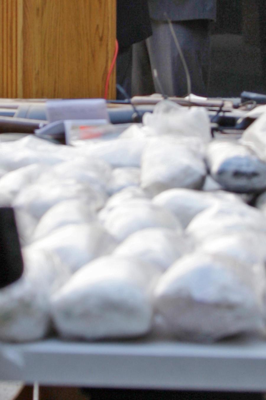 Incautación de drogas en una image de archivo