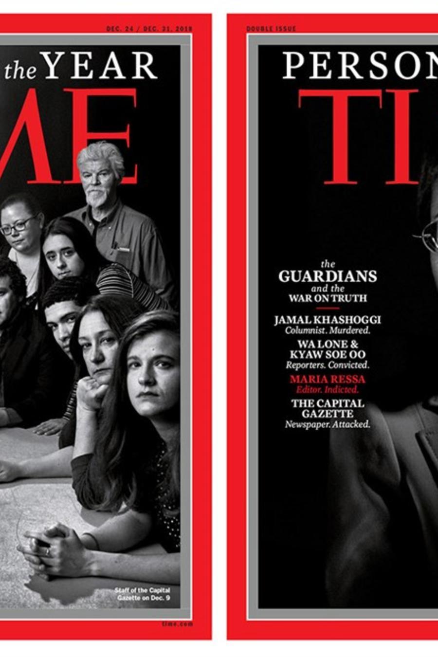 Portadas de la revista Time con la Persona del Año 2018