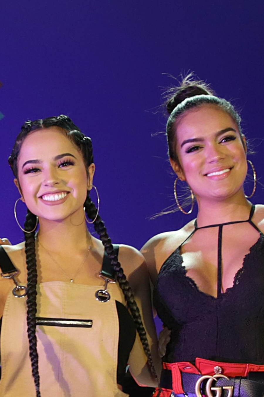 Yuridia, Rebeca Leon of Lionfish Entertainment, songwriters Becky G, Karol G