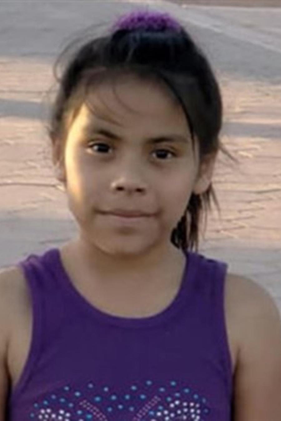 La niña Yeisvi Carrillo, ciudadana de EEUU. Su madre enfrenta deportación a Guatemala tras ser detenidas en la frontera