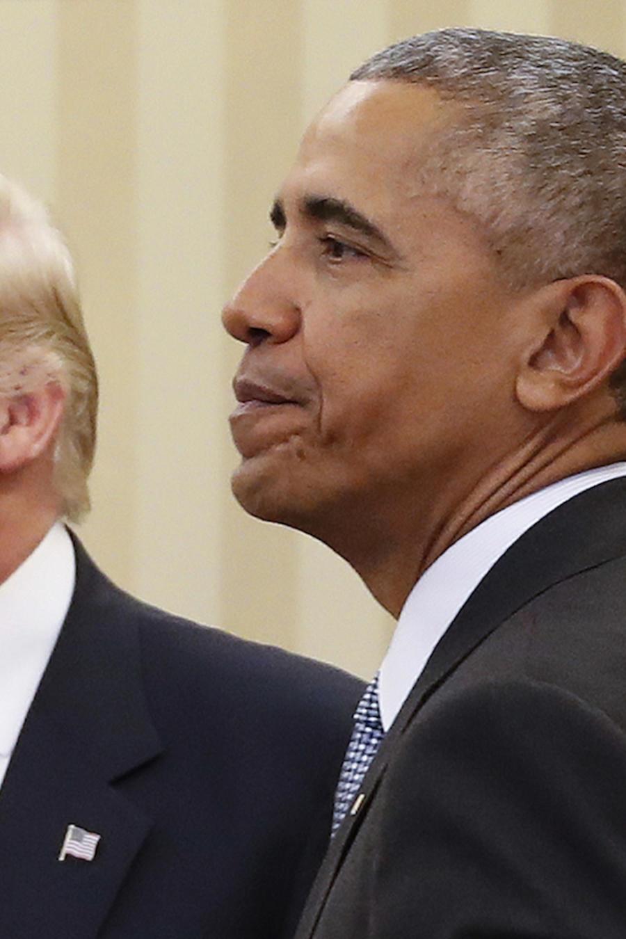 Trump y Obama (derecha), en la Casa Blanca en noviembre de 2016.