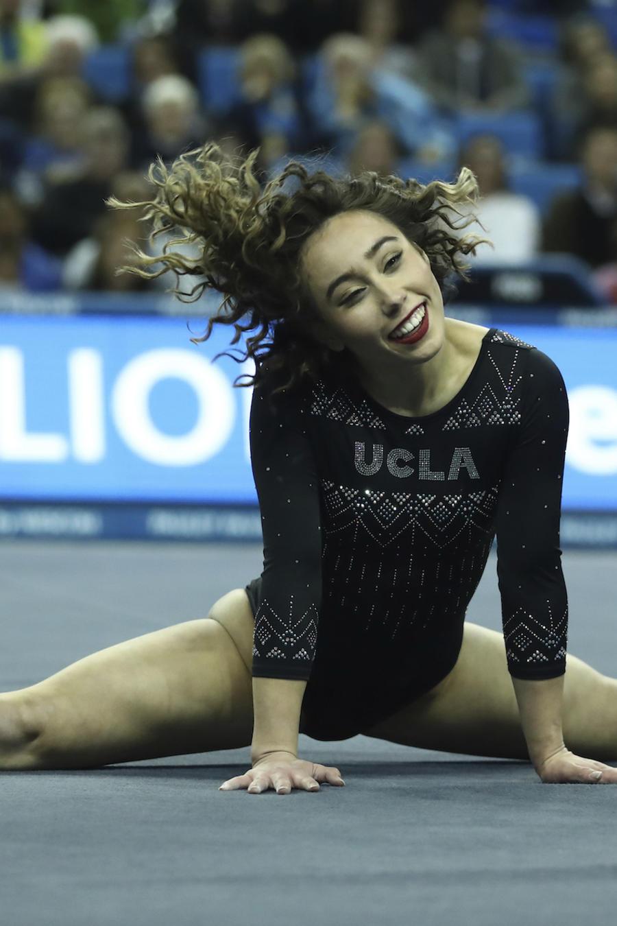 Katelyn Ohashi, durante una rutina de gimnasia el 4 de enero en Los Ángeles.