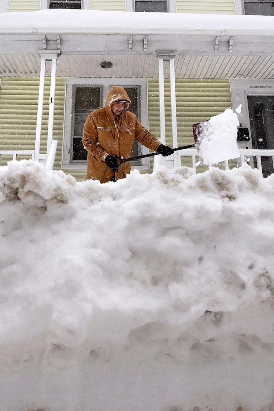 Imagen de archivo de una tormenta de nieve en New Hampshire.