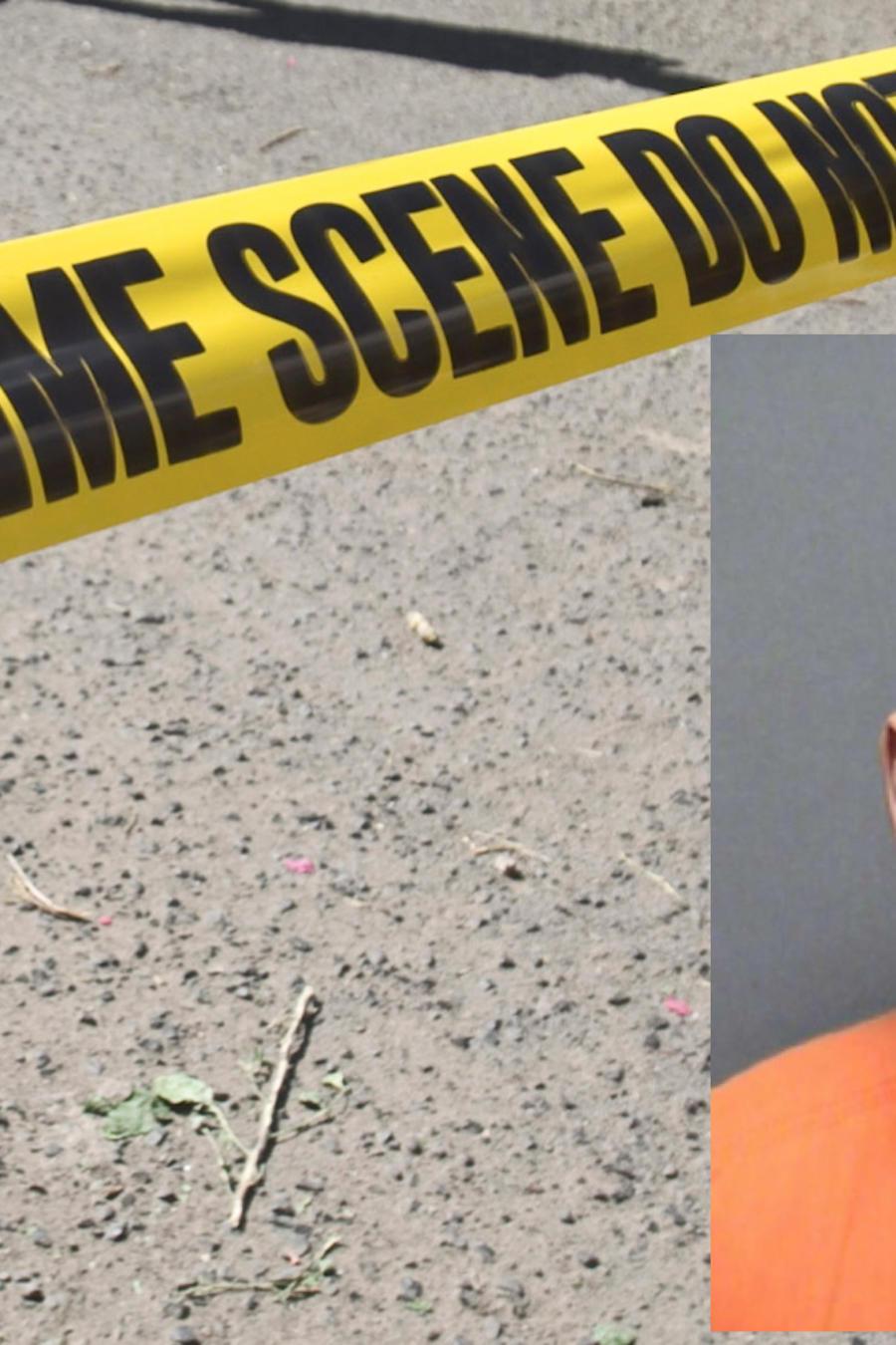 Imagen de archivo de un cordón policial. A la derecha, Ricardo Mújica.