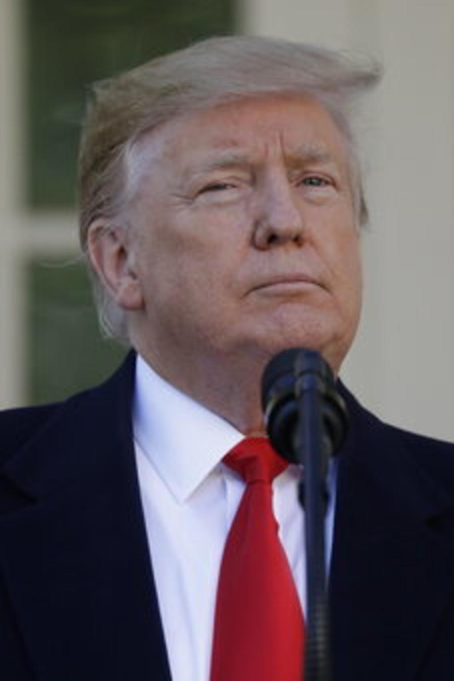 El presidente Donald Trump durante un encuentro con los medios en la Casa Blanca.
