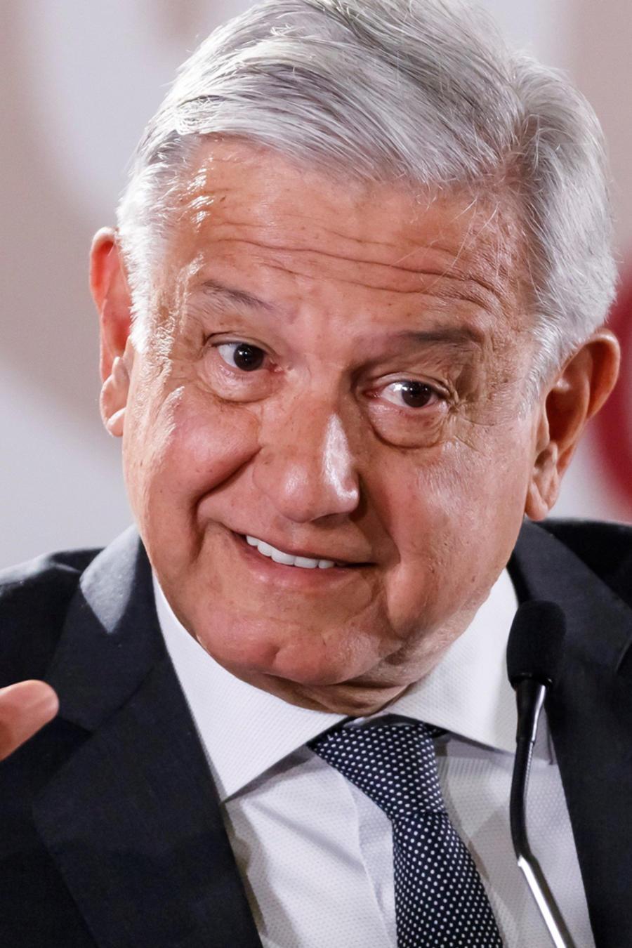 El presidente de México, Andrés Manuel López Obrador, esta mañana en su rueda de prensa matinal