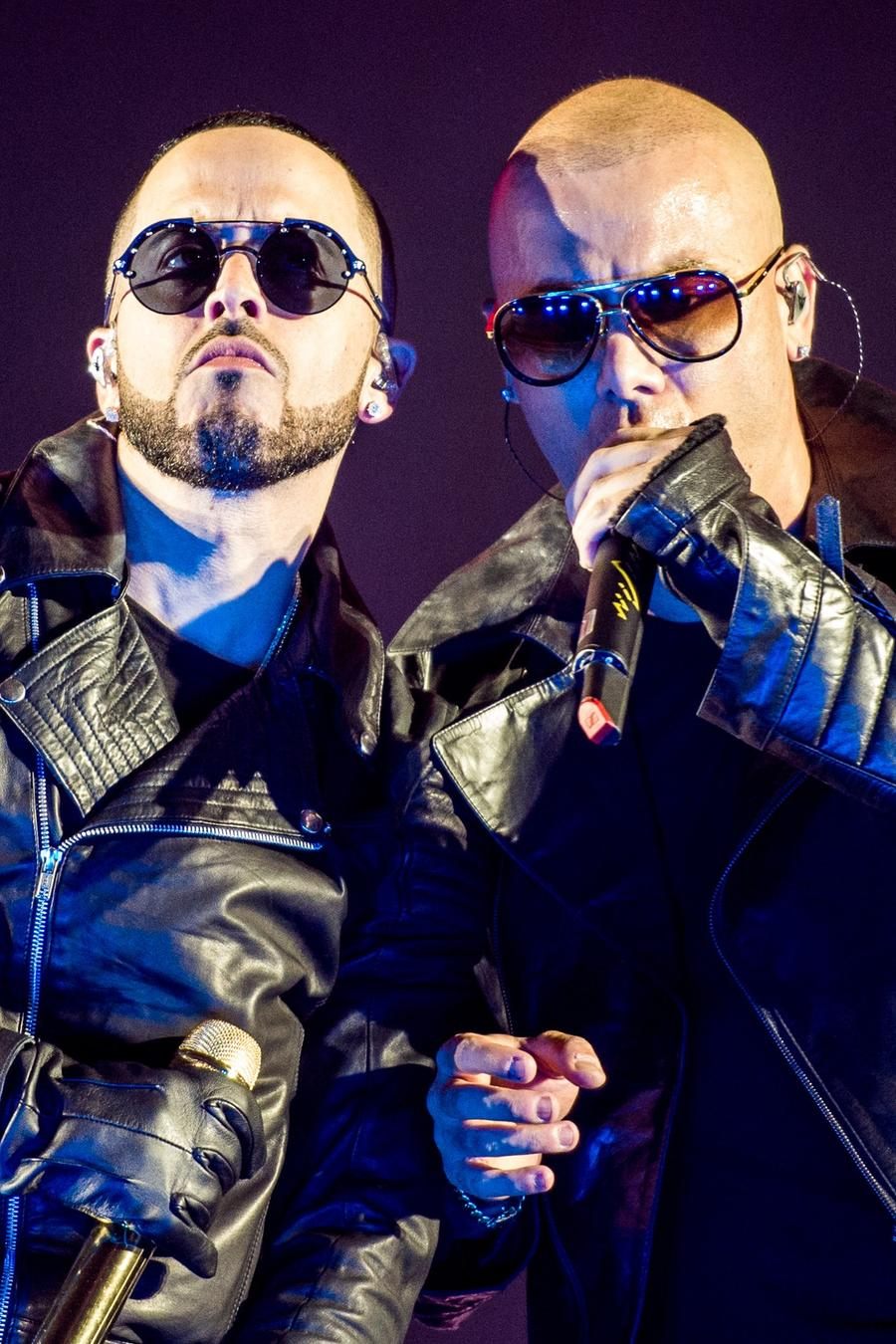 Wisin and Yandel performing live