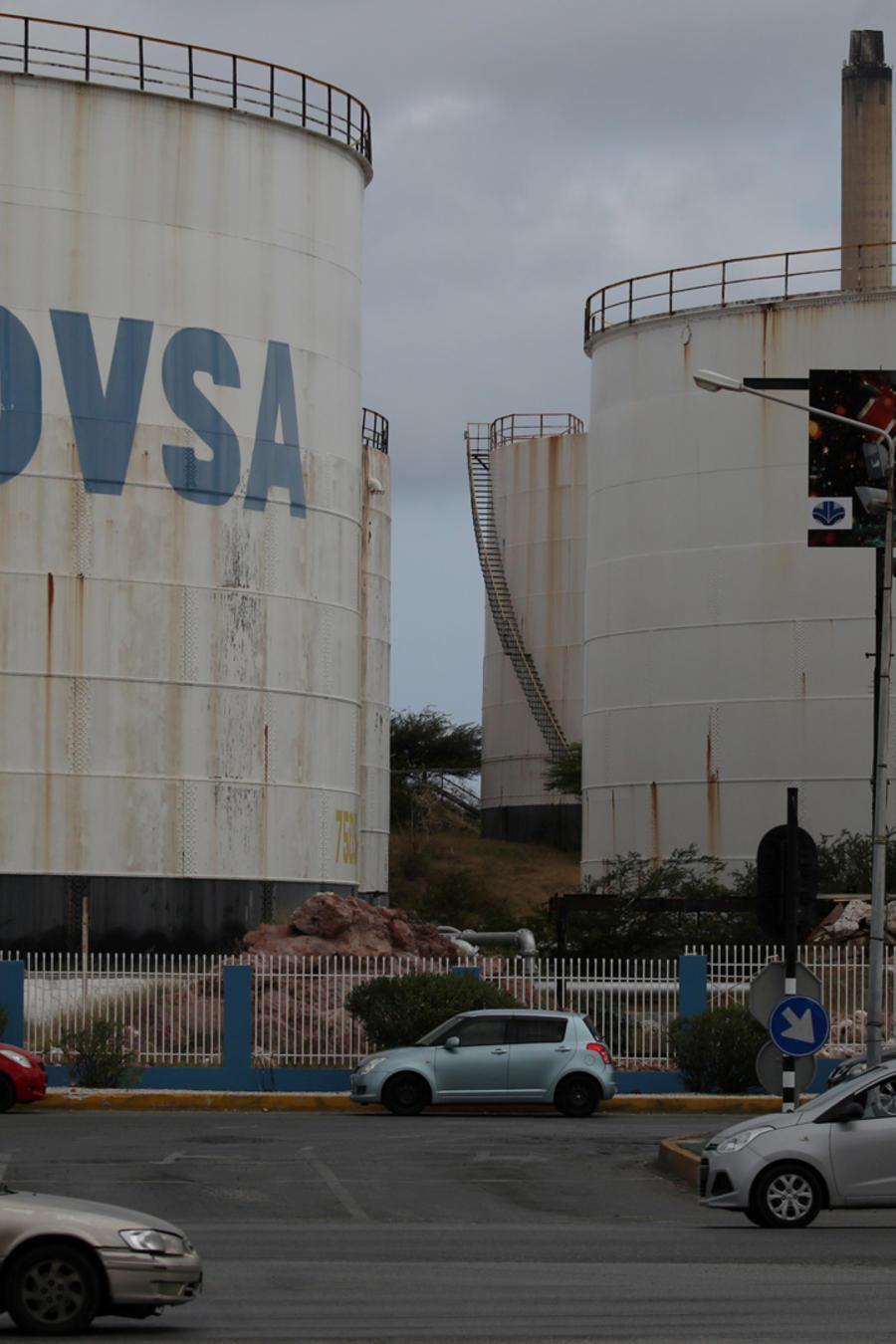 Una planta petrolera de la estatal PDVSA en una imagen de archivo