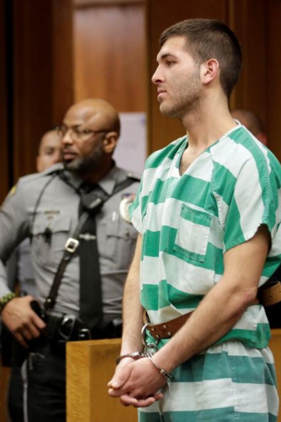 Anthony Comello este lunes en su audiencia de extradición en Toms River, N.J.