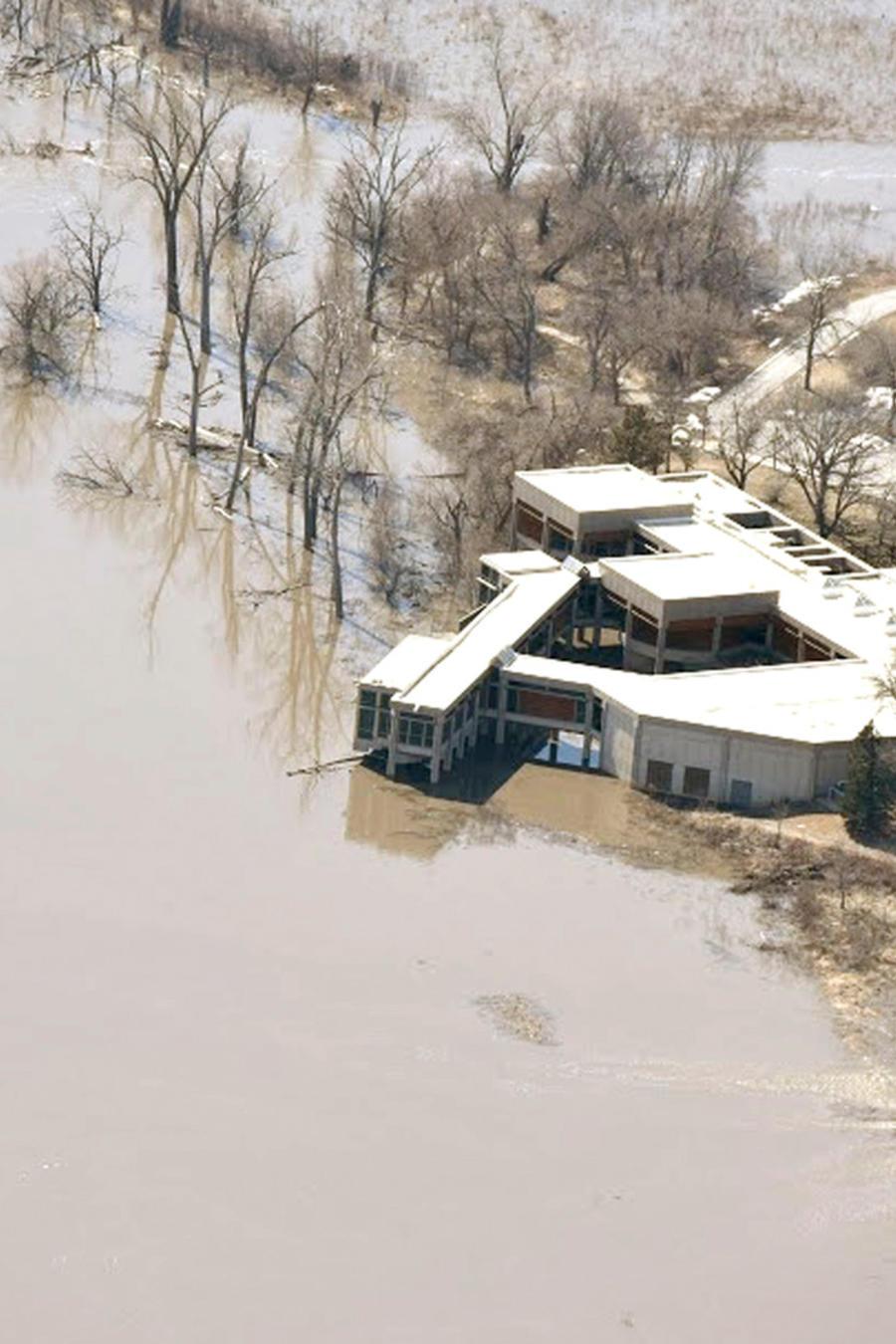 Inundaciones en Nebraska por el deshielo provocado por temperaturas cálidas