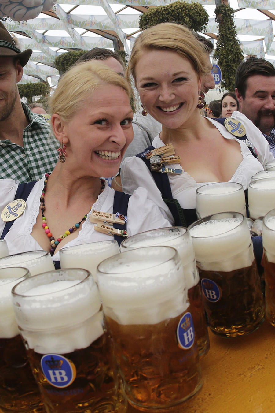 Imagen de archivo del festival Oktoberfest en Munich (Alemania) en 2014.