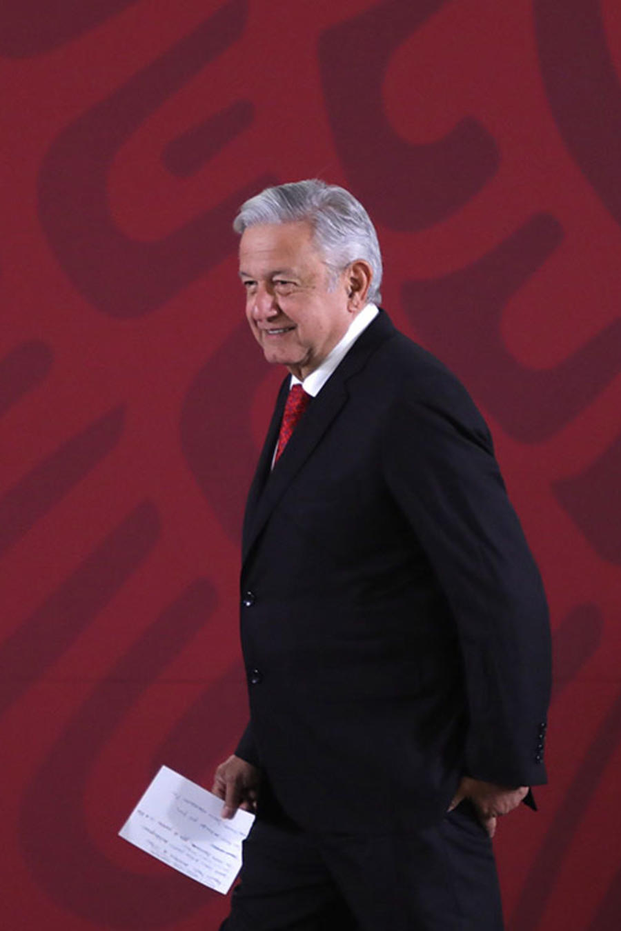 Andrés Manuel López Obrador durante su rueda matutina de prensa en el Palacio Nacional, en Ciudad de México.