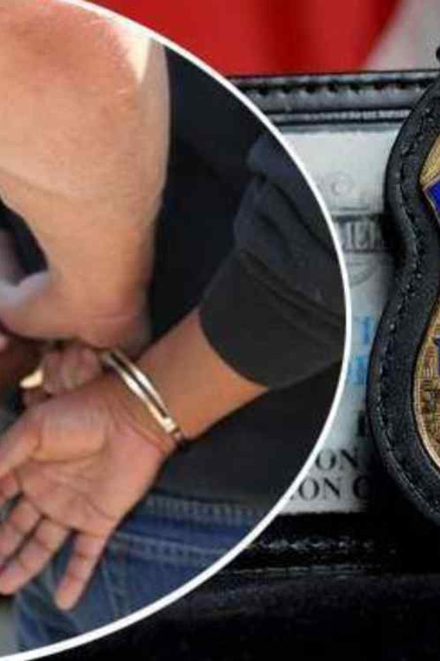 Imagen de una detención por agentes de ICE.