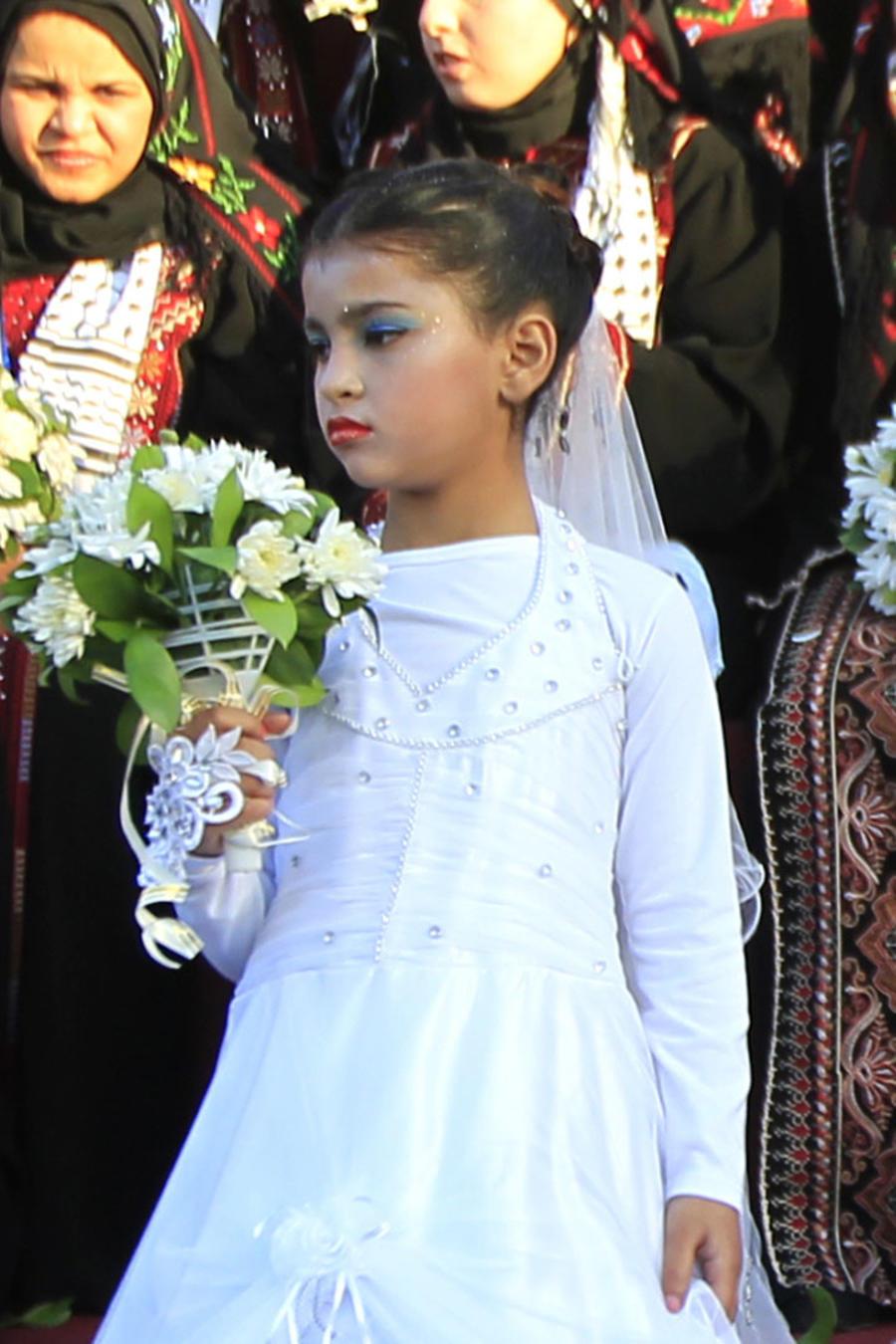 Niña palestina en su boda