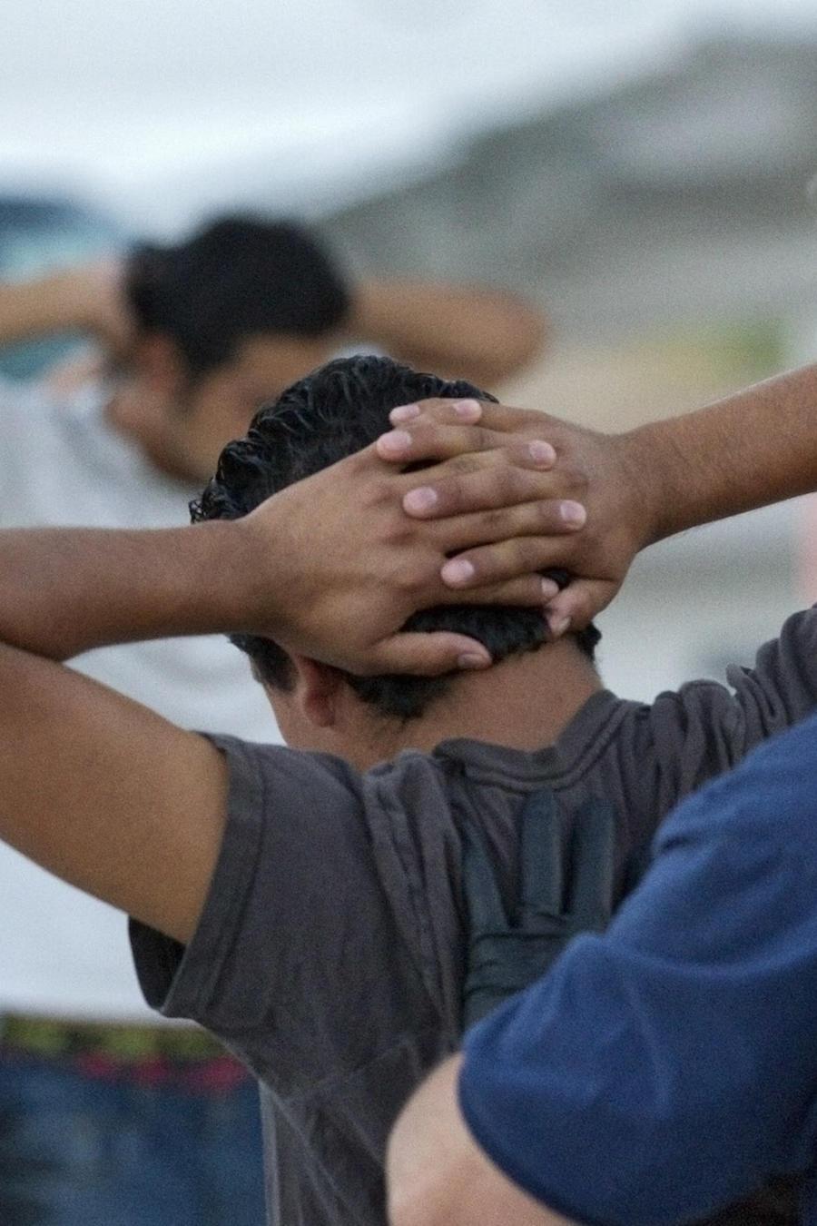 Imagen de archivo de inmigrantes indocumentados siendo deportados en avión desde Arizona en 2012.