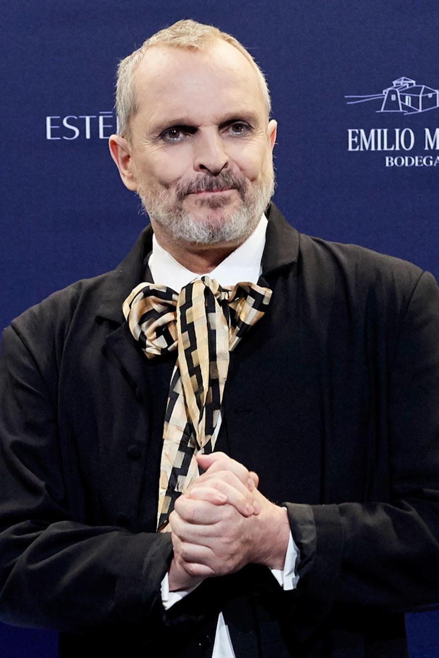 Miguel Bosé en la Real Academia de Bellas Artes de San Fernando en Madrid