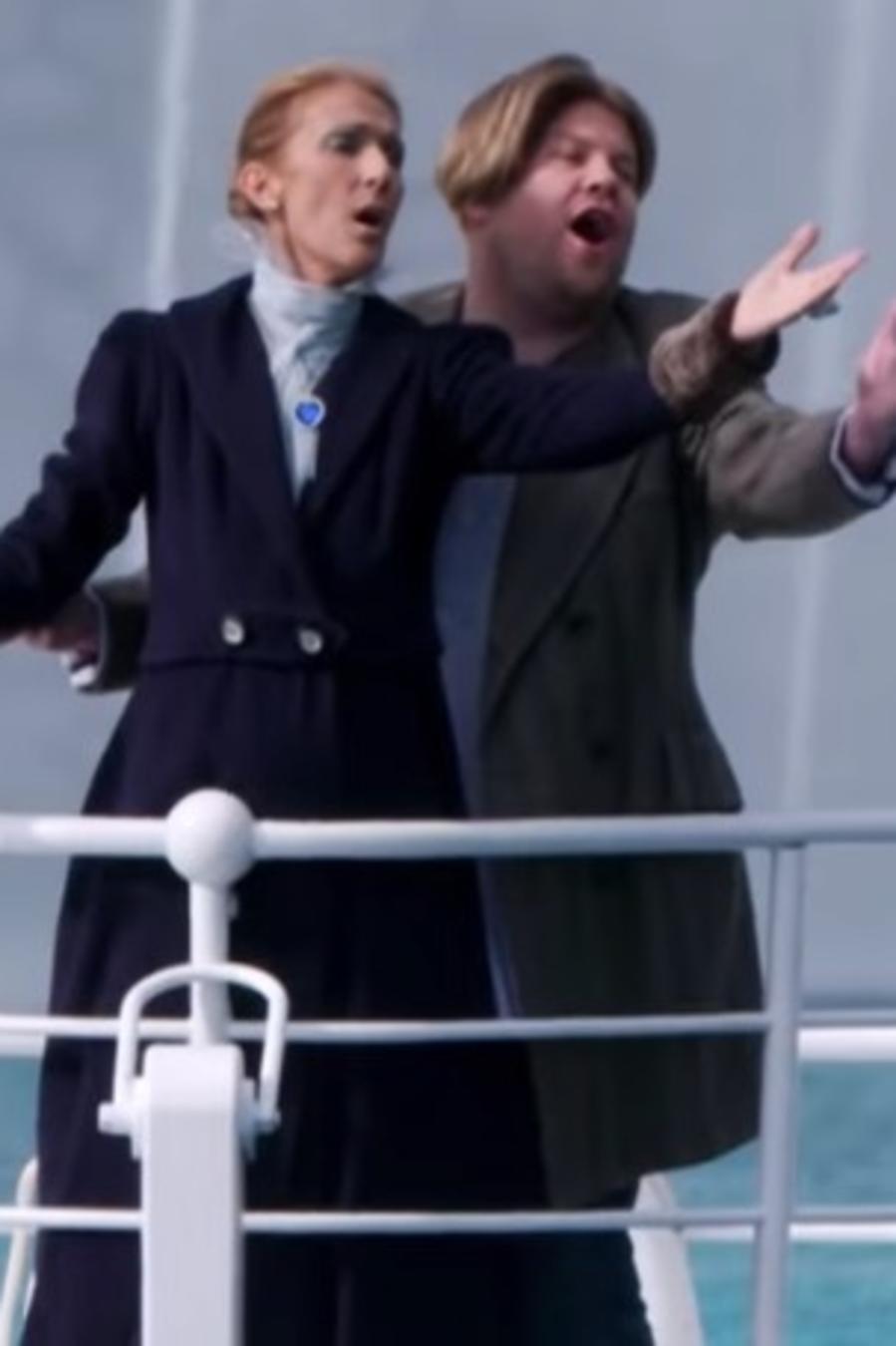 Celine Dion recreates Titanic in Carpool Karaoke with James Corden