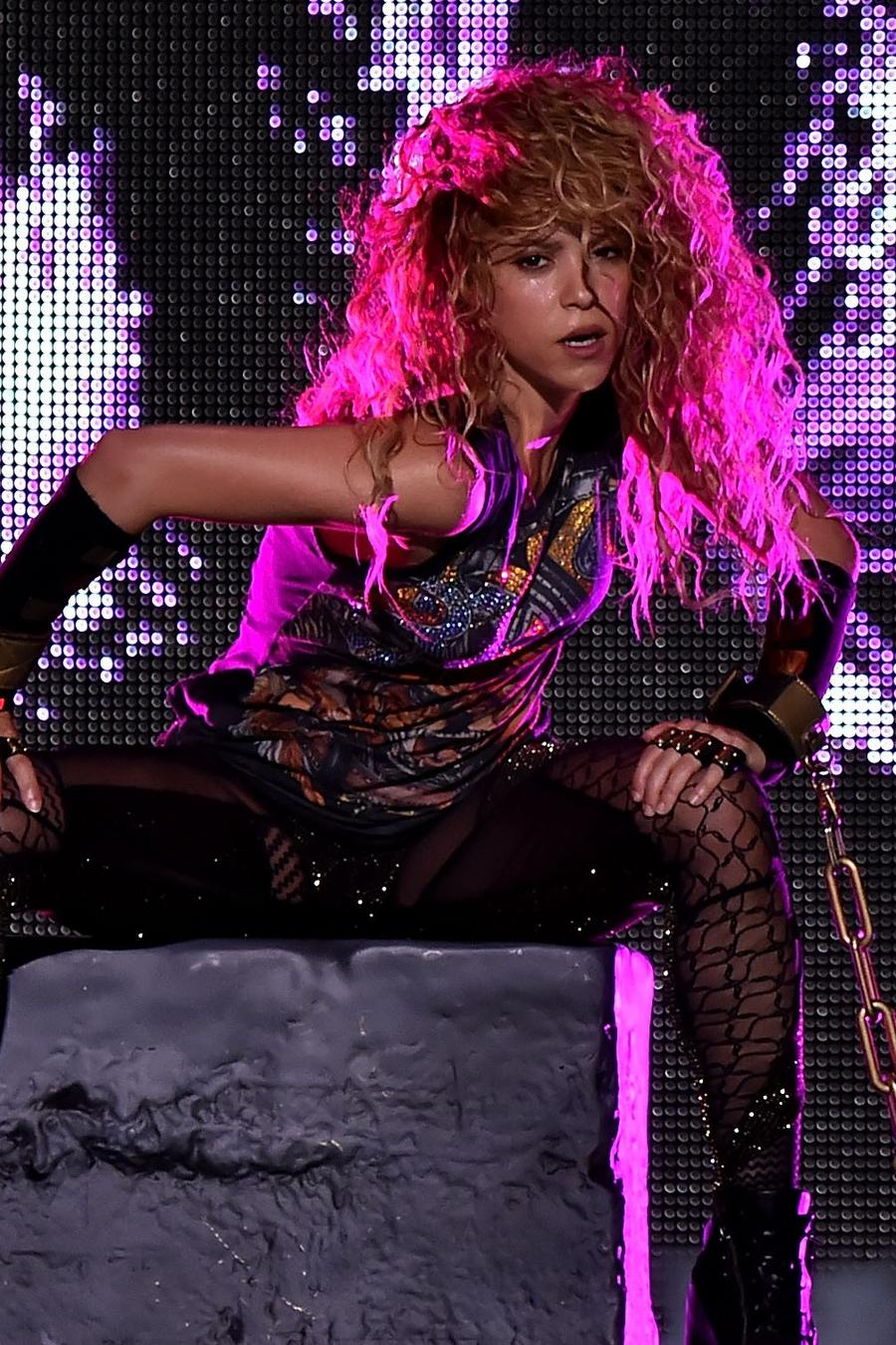 Shakira in concert during her El Dorado World Tour
