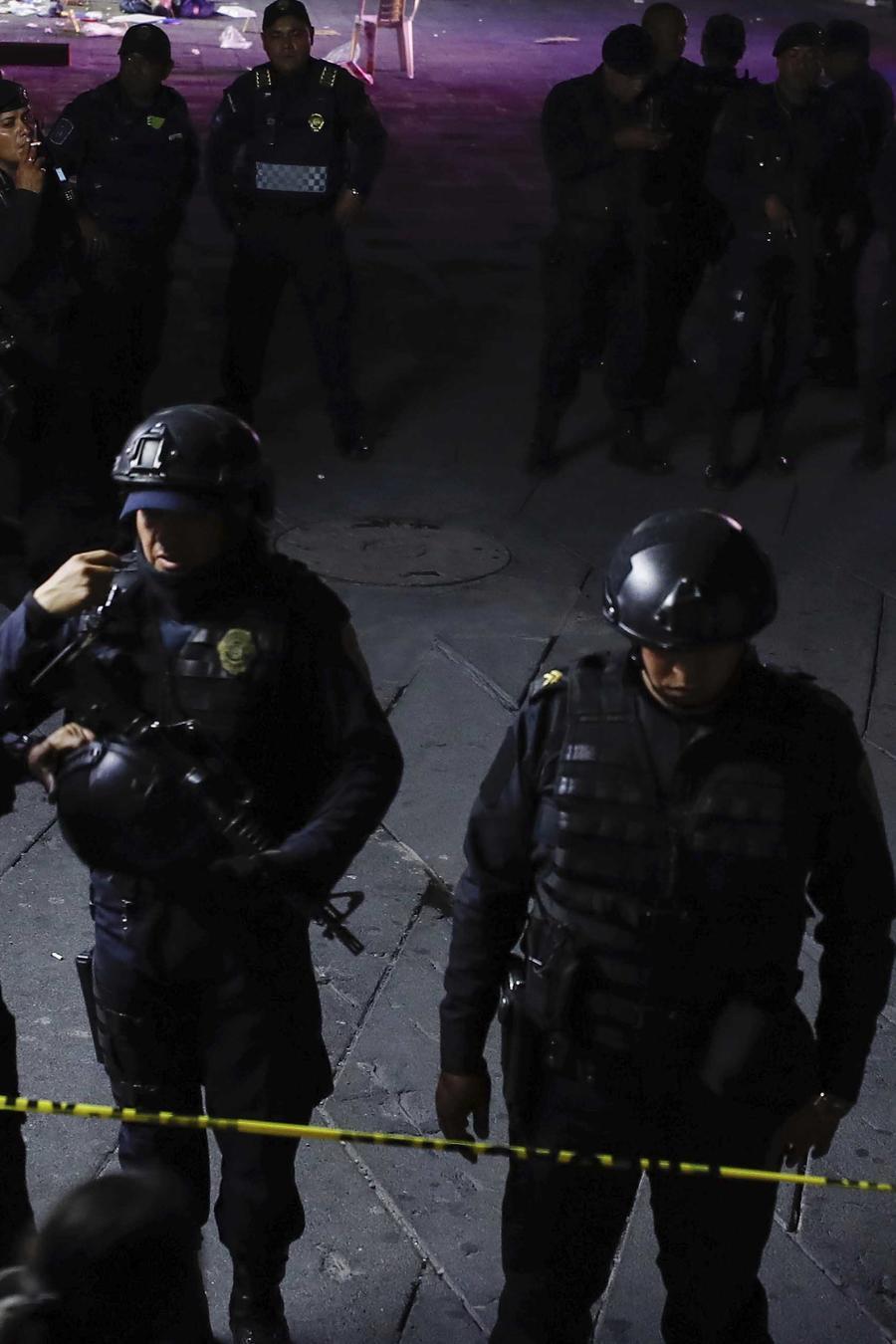 Foto de archivo de la escena de un crimen en México