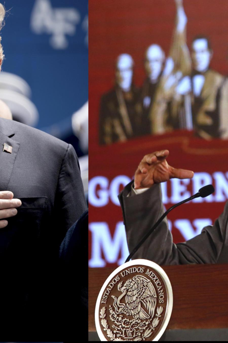 Donald TrumpTrump, ayer (izquierda), y López Obrador, hoy.