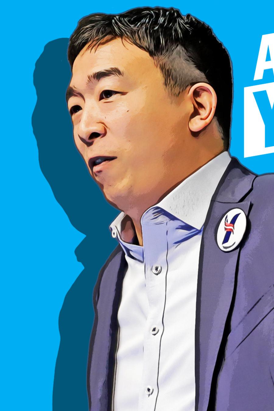 El precandidato presidencial Andrew Yang.