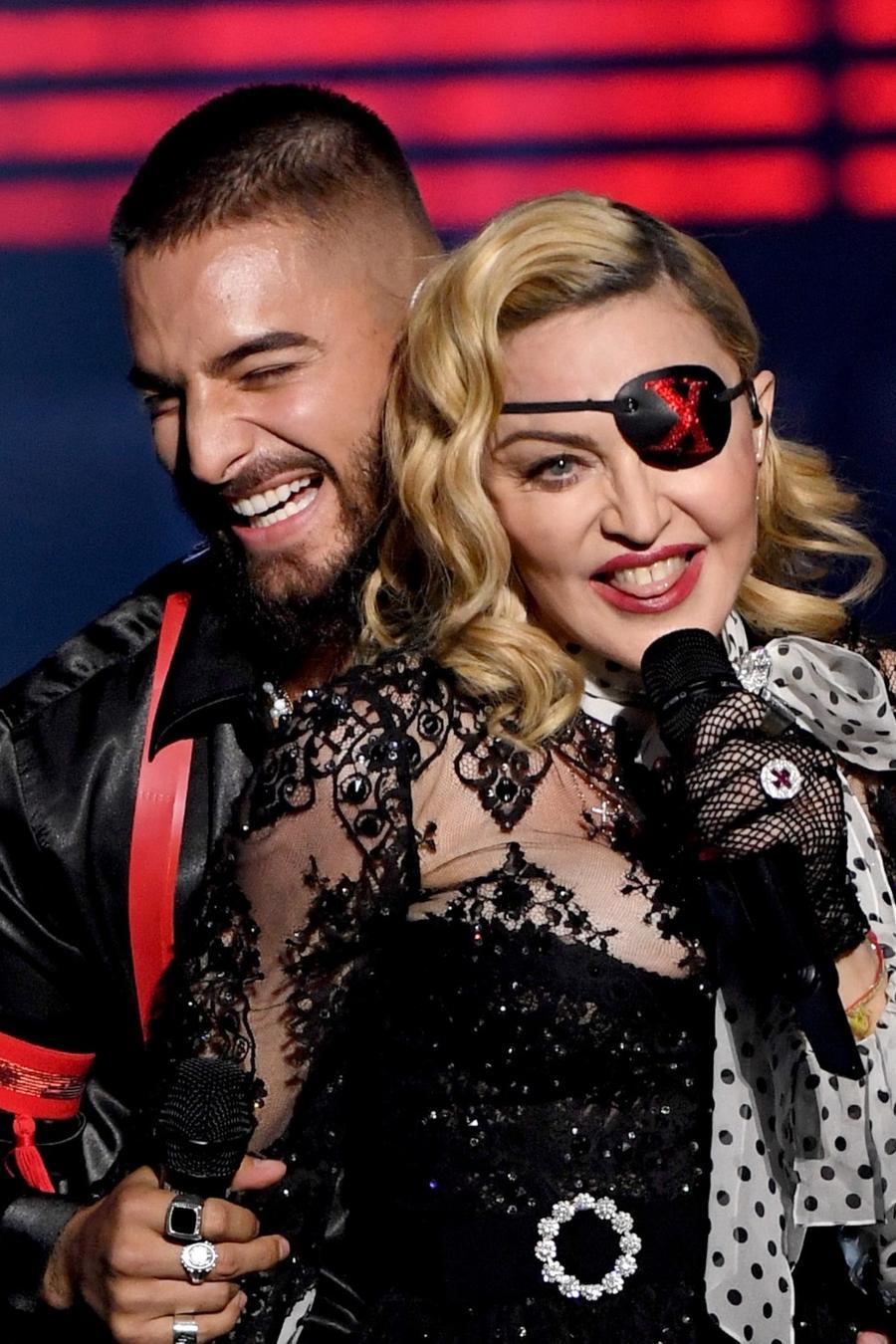 Maluma and Madonna at the 2019 Billboard Music Awards